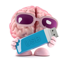 Brain needs a USB to store data