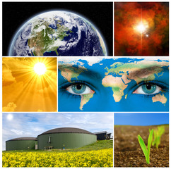 Umwelt Collage - Eath texture by NASA.gov