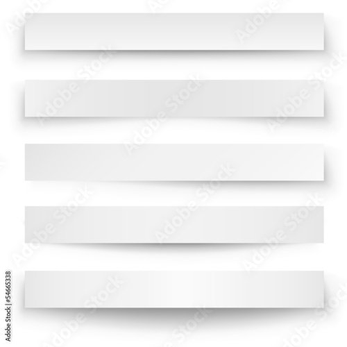 Header blank web banner shadow template