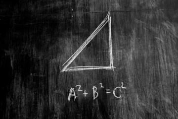The Pythagorean theorem on a blackboard