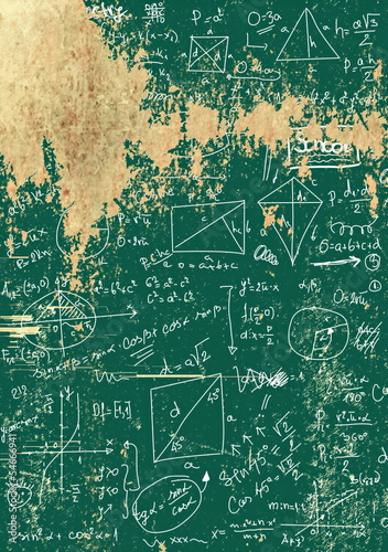 old blackboard maths seamless background, texture and pattern