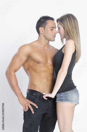 young man and girl playing sexual games