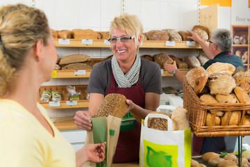 verkauf in der biobäckerei