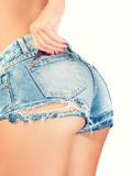 Shaped girl bottom poster