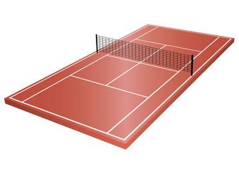 Tennisplatz 3D