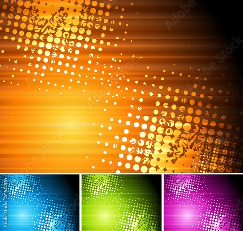 Abstract colourful grunge backgrounds