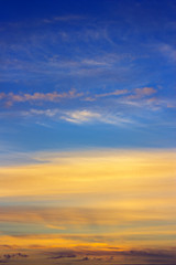 Early summer morning sky background , vertical