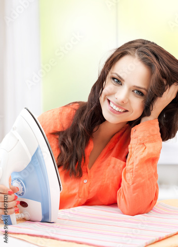 perfect housewife ironing clothes