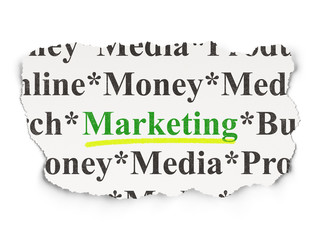 Marketing concept: Marketing on Paper background