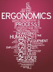 """Word Cloud """"Ergonomics"""""""