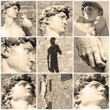 composition with images of David by Michelangelo, Florence