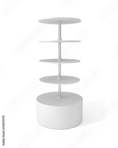 Design Pattern of Round Stand isolated on white