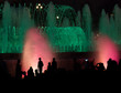 Night fountain show