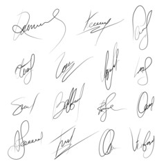 Autograph vector sign