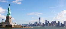 Fototapete - Panorama on Manhattan, New York City