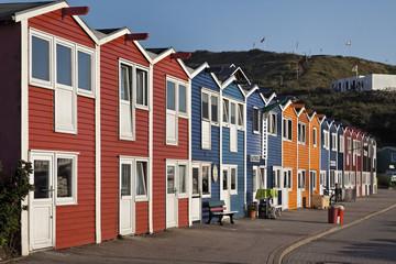 Helgoland historische Fischerhäuser