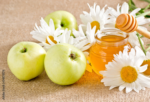 Honey with apples