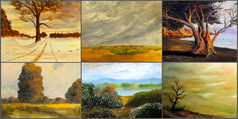 Six Landscape Paintings