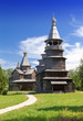 Open-air museum of  ancient wooden architecture. Russia.