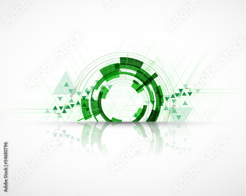 high tech eco green infinity computer technology concept backgro