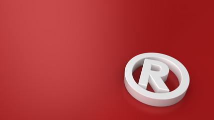 Registered mark on red
