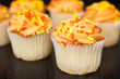 Cupcakes with Orange Icing