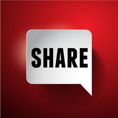 Share label speech bubble
