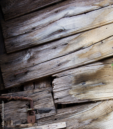 Old wood door closeup