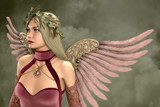 Pink Angel 3d Computer Graphics
