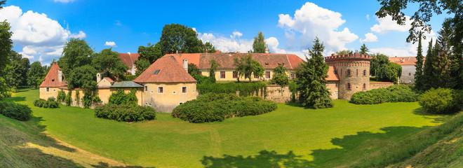 Old town fortification in Trebon (in German Wittingau), Czech Re