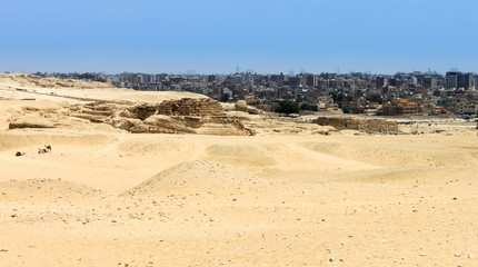 The city of Cairo taken from the Pyramids of Giza