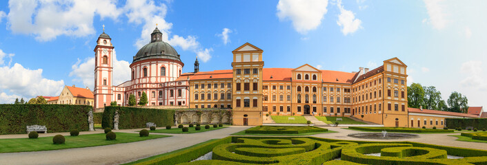 Jaromerice Palace, cathedral and gardens in Southern Moravia, Cz