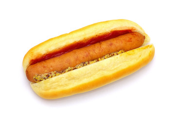 A hot dog isolated on white background