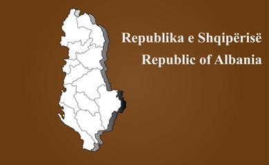Albanische Landkarte