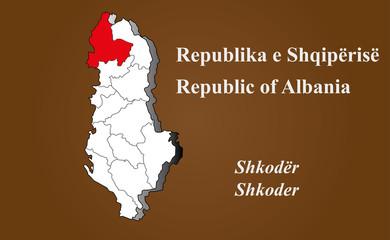 Albanien - Shkoder hervorgehoben