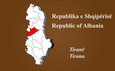 Albanien - Tirana hervorgehoben