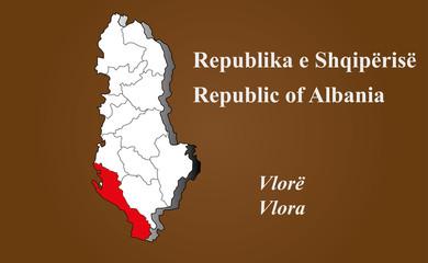 Albanien - Vlora hervorgehoben
