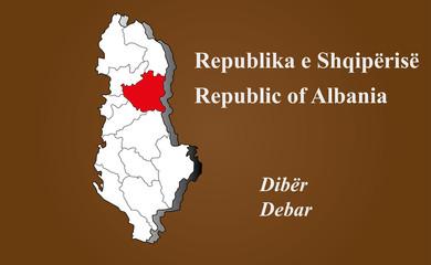 Albanien - Debar hervorgehoben