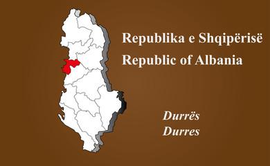Albanien - Durres hervorgehoben