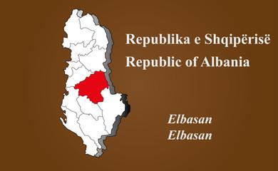 Albanien - Elbasan hervorgehoben