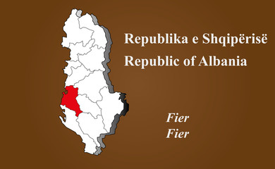Albanien - Fier hervorgehoben