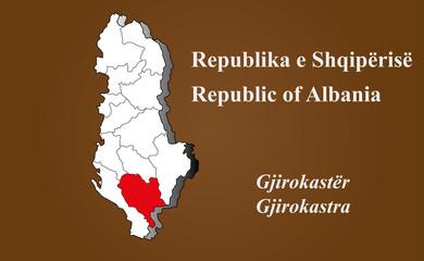 Albanien - Gjirokastra hervorgehoben