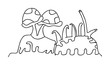 illustration of isolated hand drawn coral vector