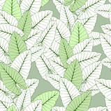 Tropical foliage seamless ornament