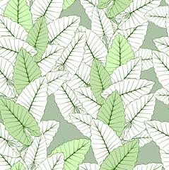 Tropical foliage seamless ornament