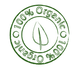 Organic stamp with leaf