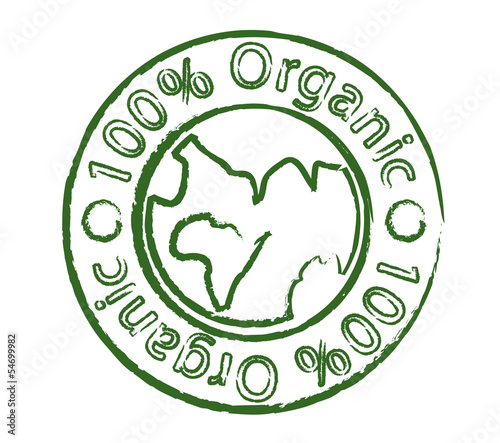 Organic stamp with earth