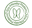 Eco-friendly product stamp with butterfly