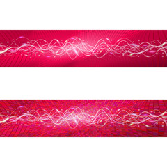 """Flying wave backgrounds. The red version. Variant """"A"""". EPS-10"""