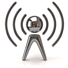 Silver wireless icon